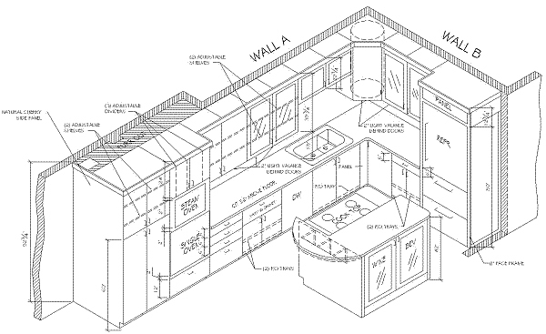 isometric drawing of house