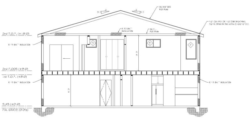 Plan Elevation Cross Section : Residential design plans