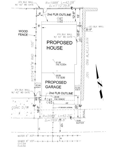 Residential Design Plans – Sample Site Plan